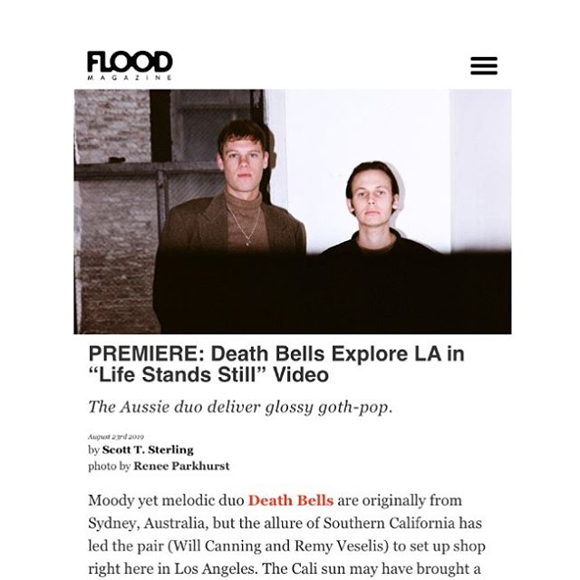 "Have you seen the video for ""Life Stands Still"" by @deathbells_ ? Head over to @floodmagazine to check it out! vinyl pre-order up at MI webstore"