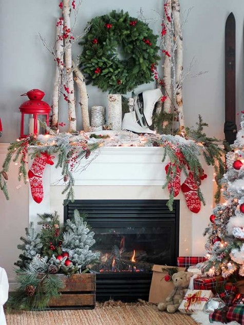 Christmas mantel greenery garland.jpg