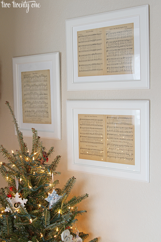 Christmas framed sheet music.jpg