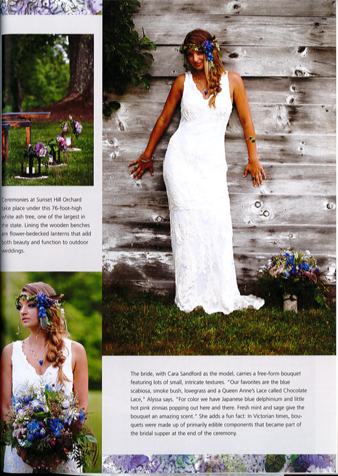 New Hampshire Bride Magazine   Boho Chic Article