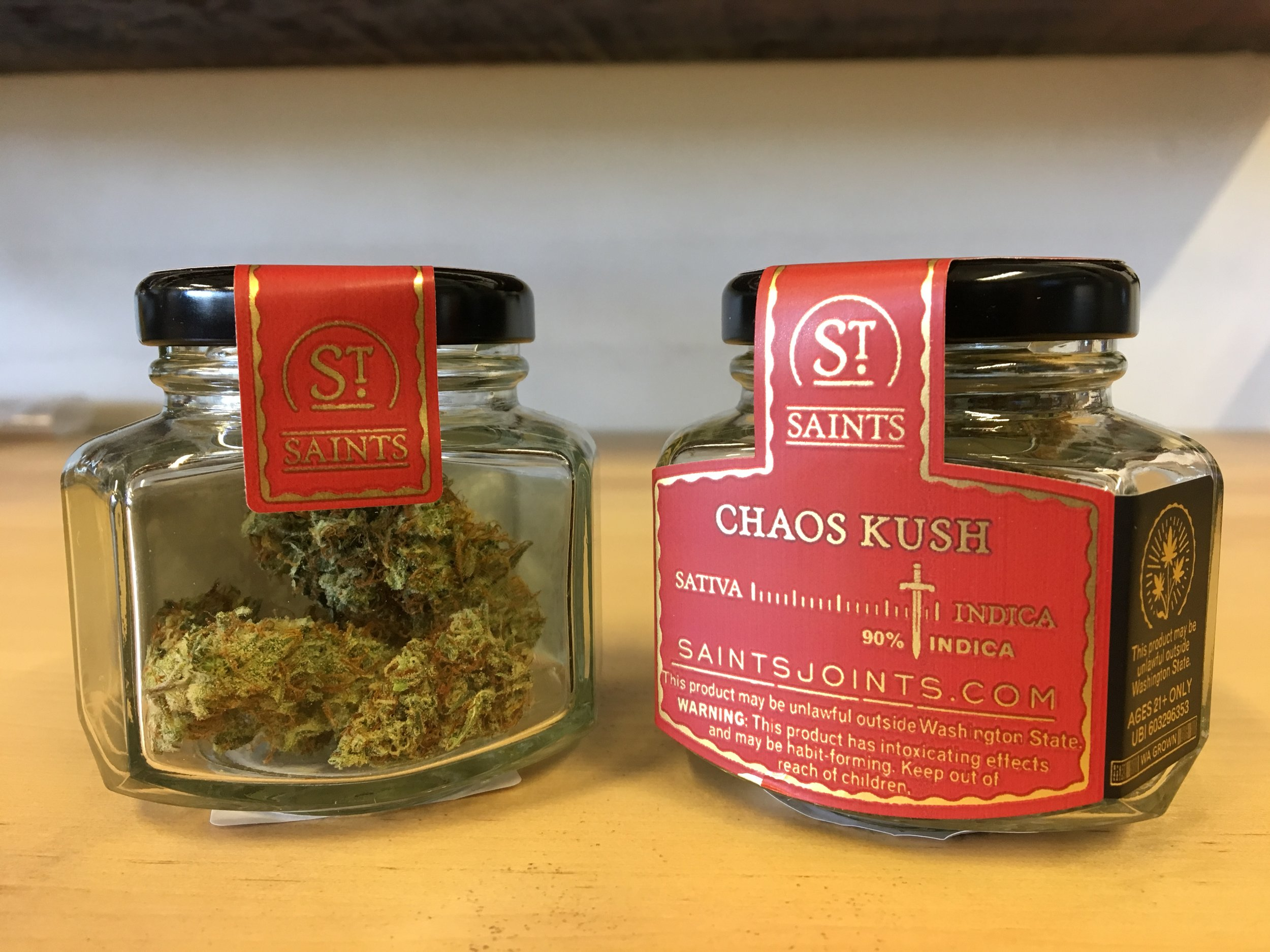 Chaos Kush By Seattle Green Bud based in Georgetown, Washington