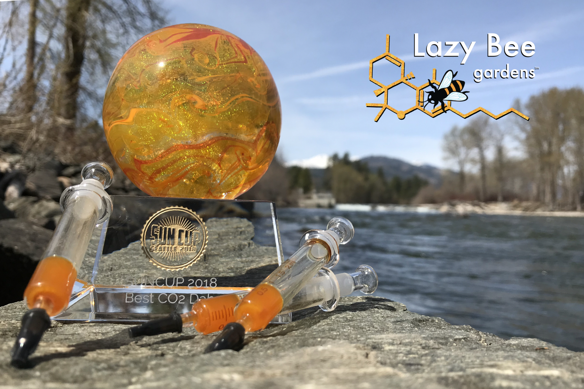 Lazy Bee Gardens CO2 Concentrate Tangie winner of Best CO2 Dap in 2018 Sun Cup