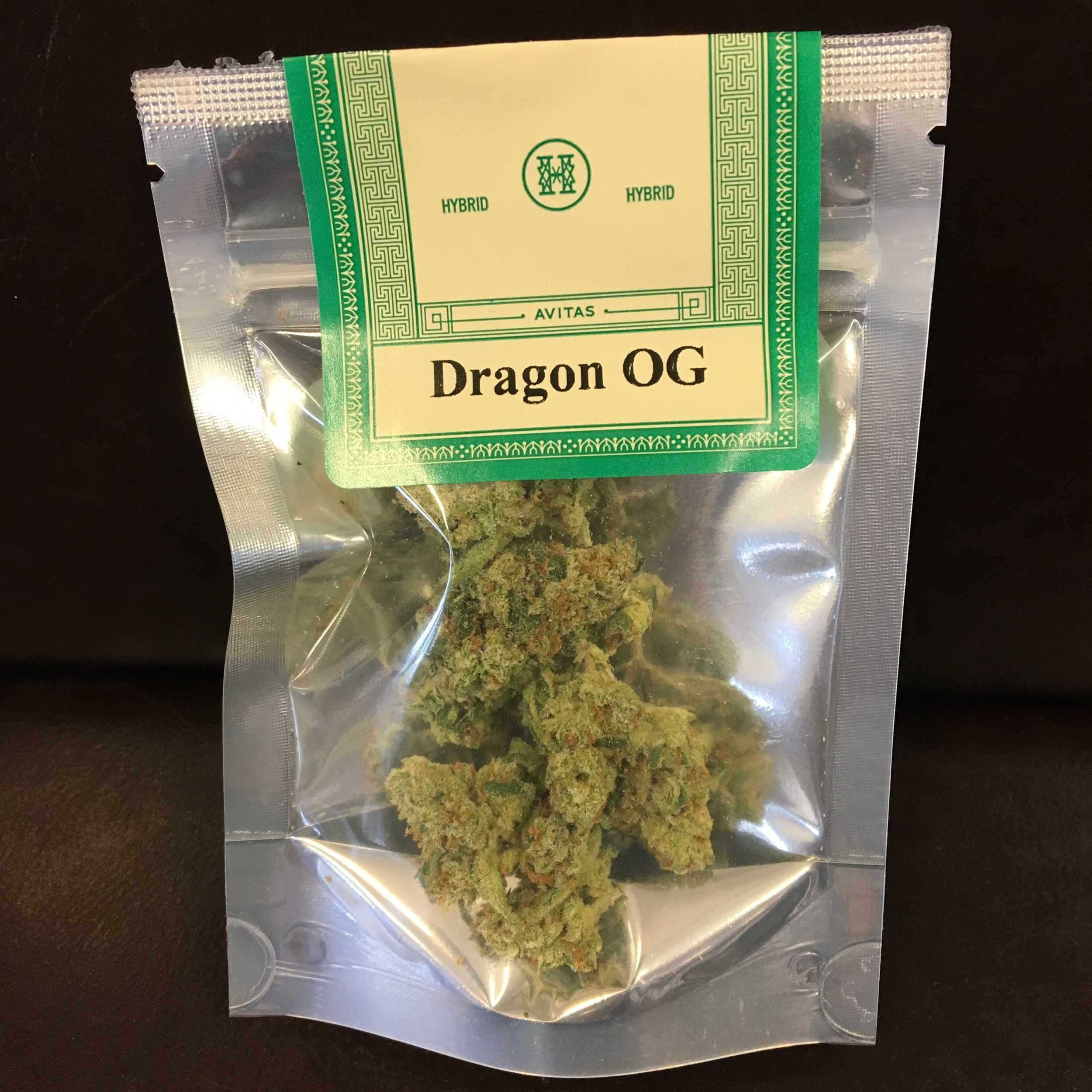 Avitas Dragon OG cannabis flower weed pairing with tequila