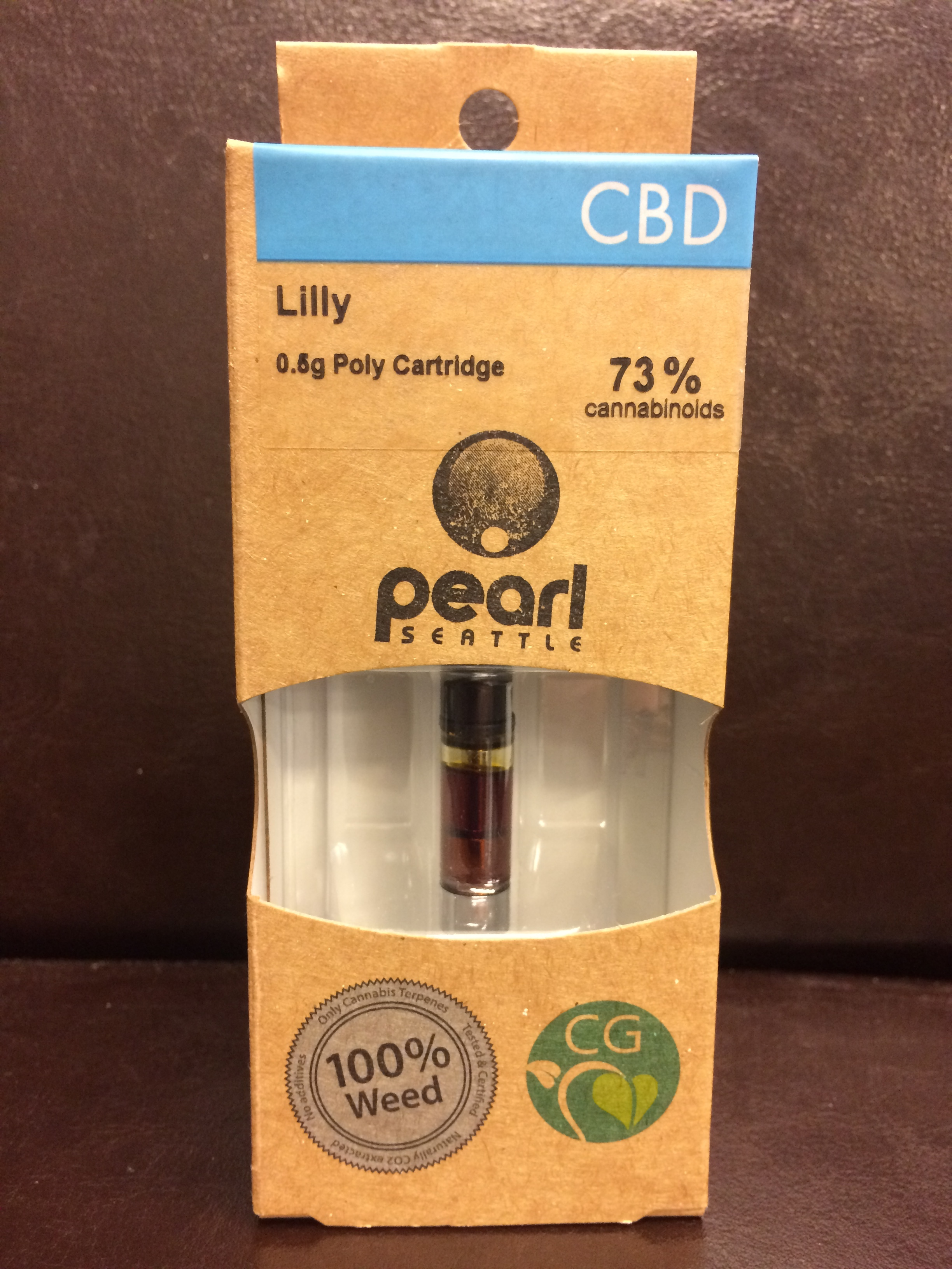 Pearl Extracts Clean Green Certified High CBD CO2 Oil Vape Cartridge