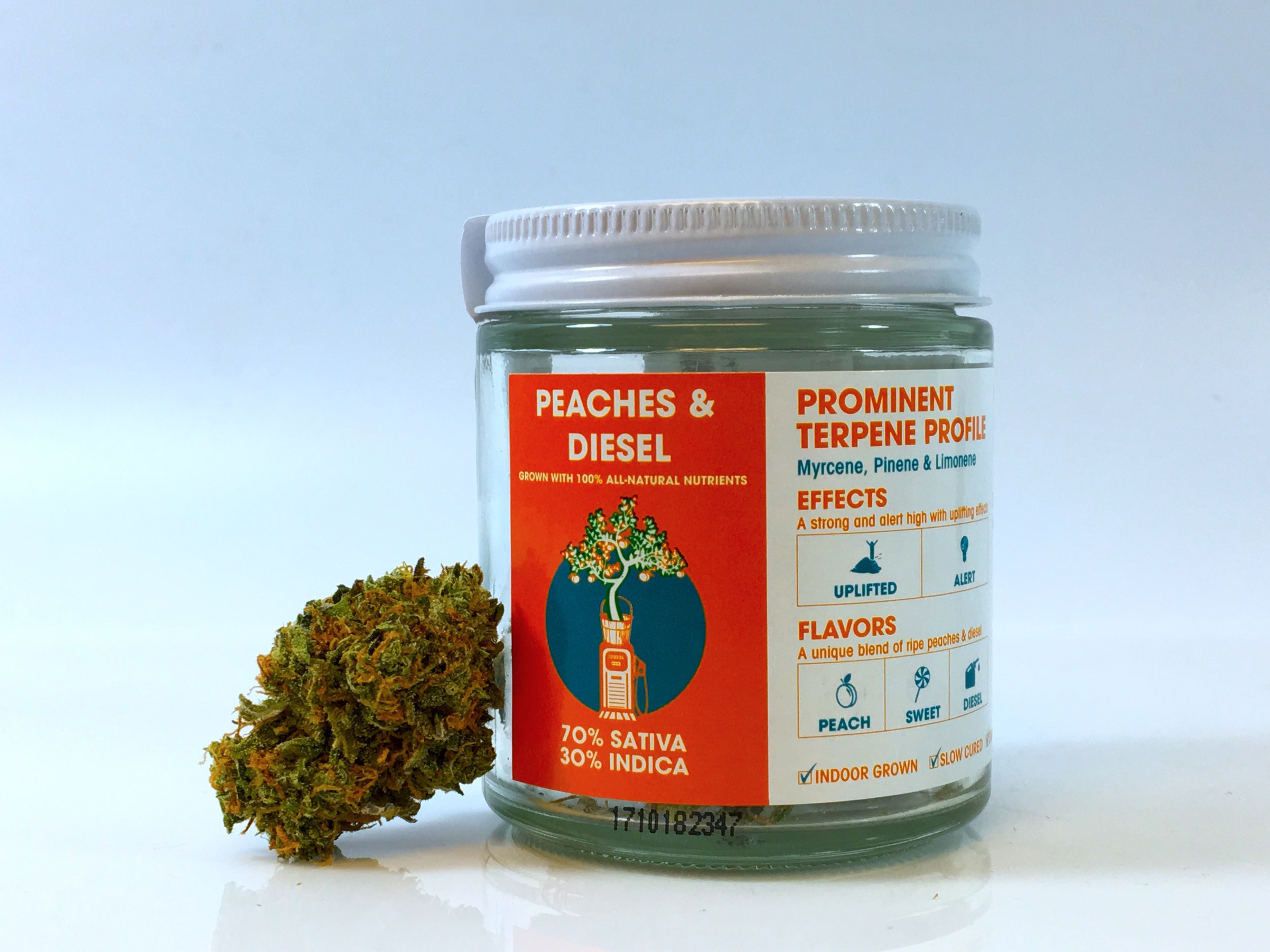 Peaches and Diesel Sweetwater Farms cannabis weed pot strain