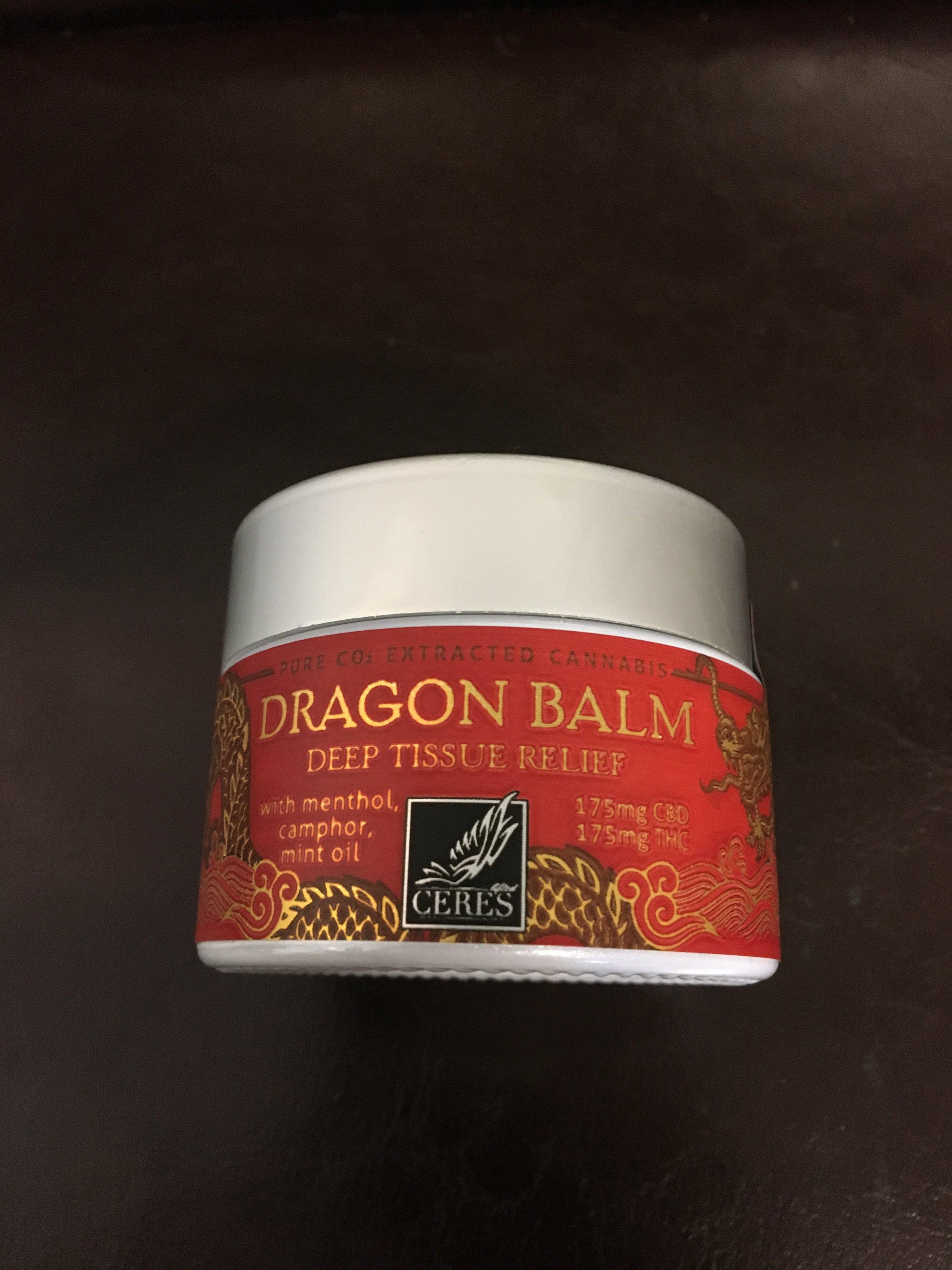 Ceres Dragon Balm topical weed exercise cbd cannabis pot