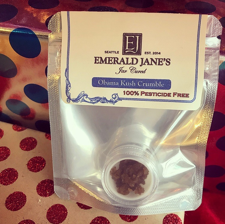 Unplug with Obama Kush dabs. - Allow yourself an hour to unplug with a dab of Obama Kush crumble from Emerald Jane's. We know putting your phone on airplane mode takes a lot of willpower. Our stoner approach to make things easier is to take a dab. An indica-dominant strain like Obama Kush is a double dose of mind and body relaxation, nearly guaranteed to make it a lil' more difficult to check your social media status.
