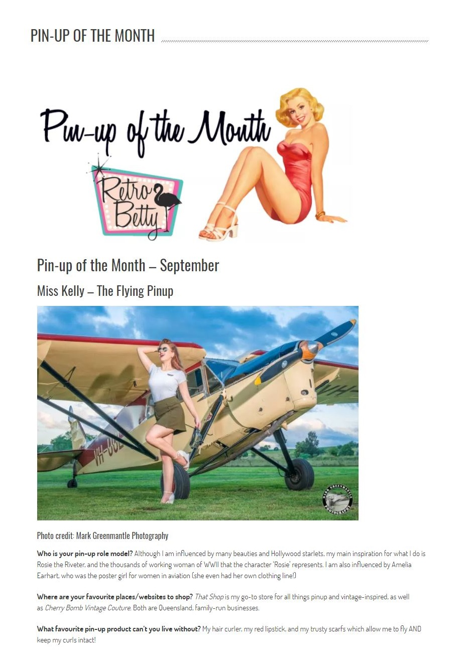 Retro Betty's Pinup of the Month