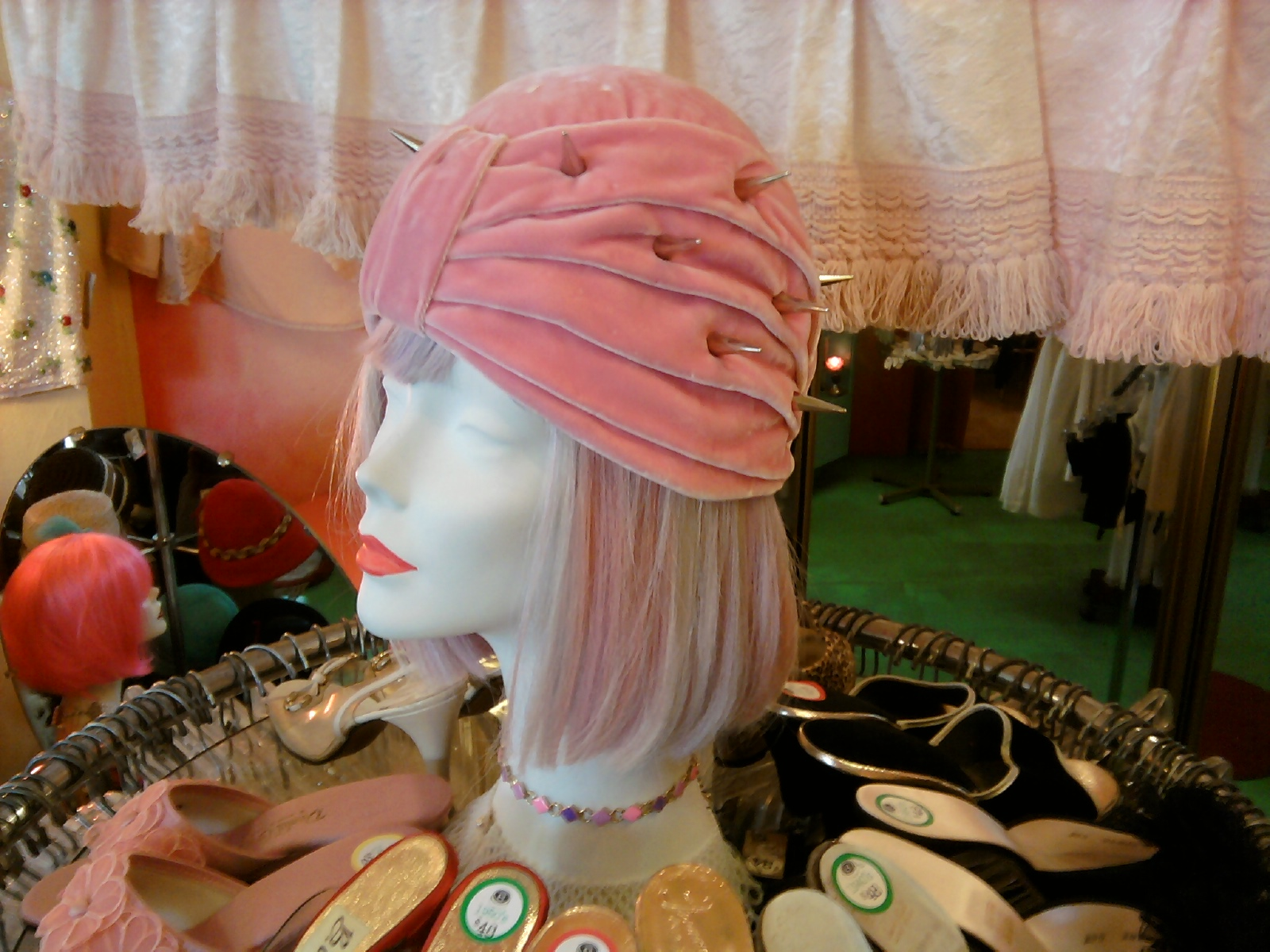 2011 hand dyed velvet draped turban