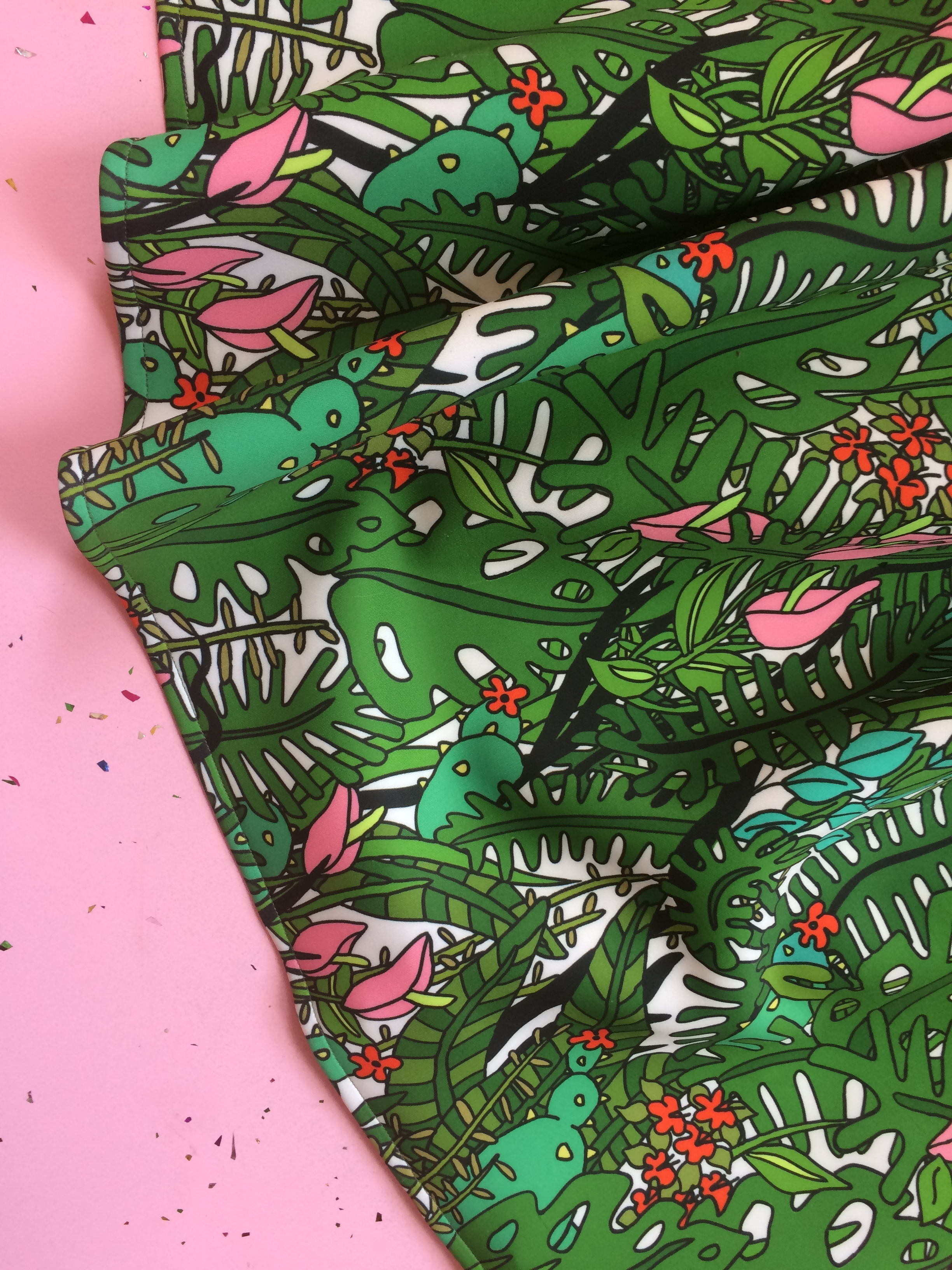 2017 Tropical Textile Design on Neoprene