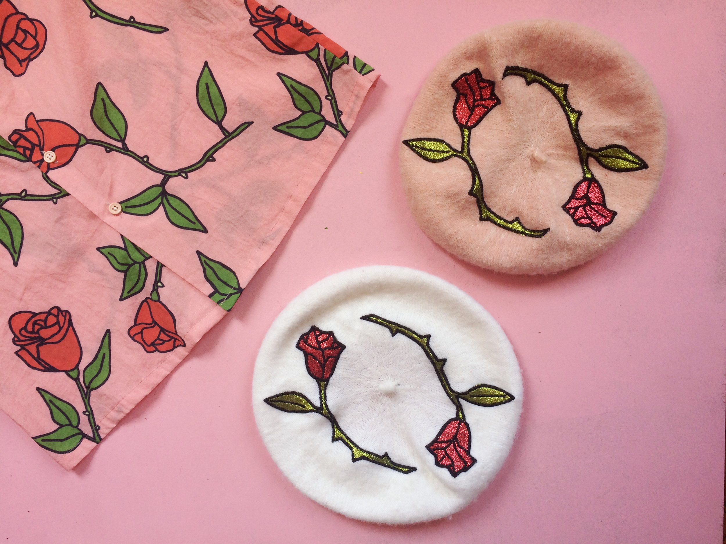 2017 Roses Textile Graphic and Embroidery