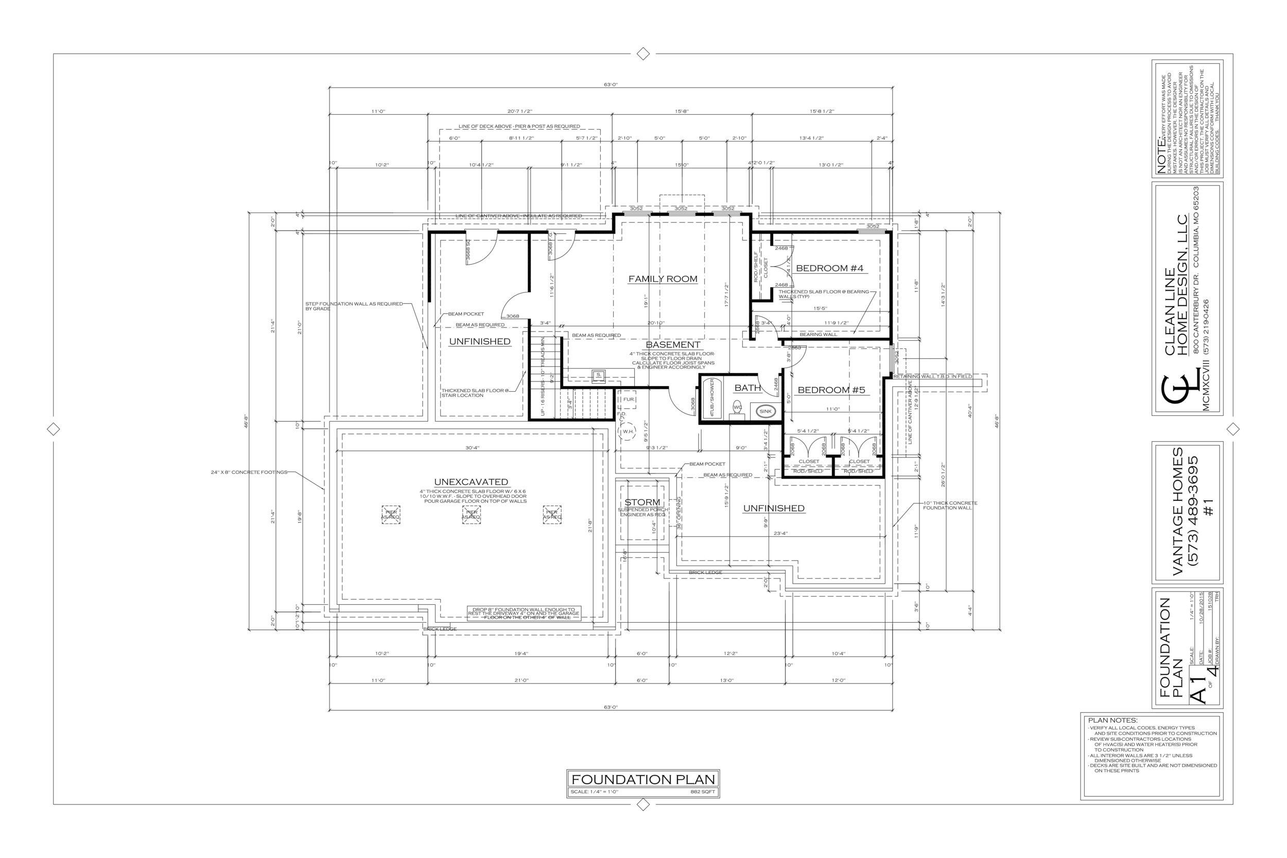 Camden Floor Plan Vantage Custom Homes