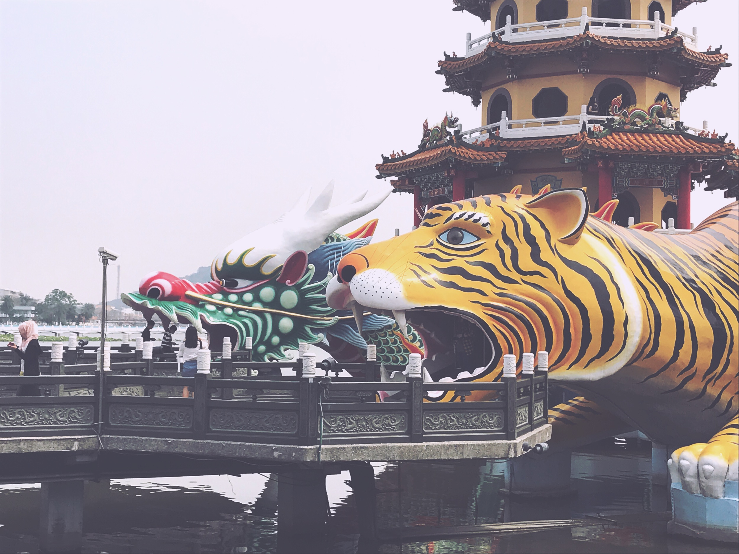 Dragon and Tiger pagodas in Kaohsiung, Taiwan