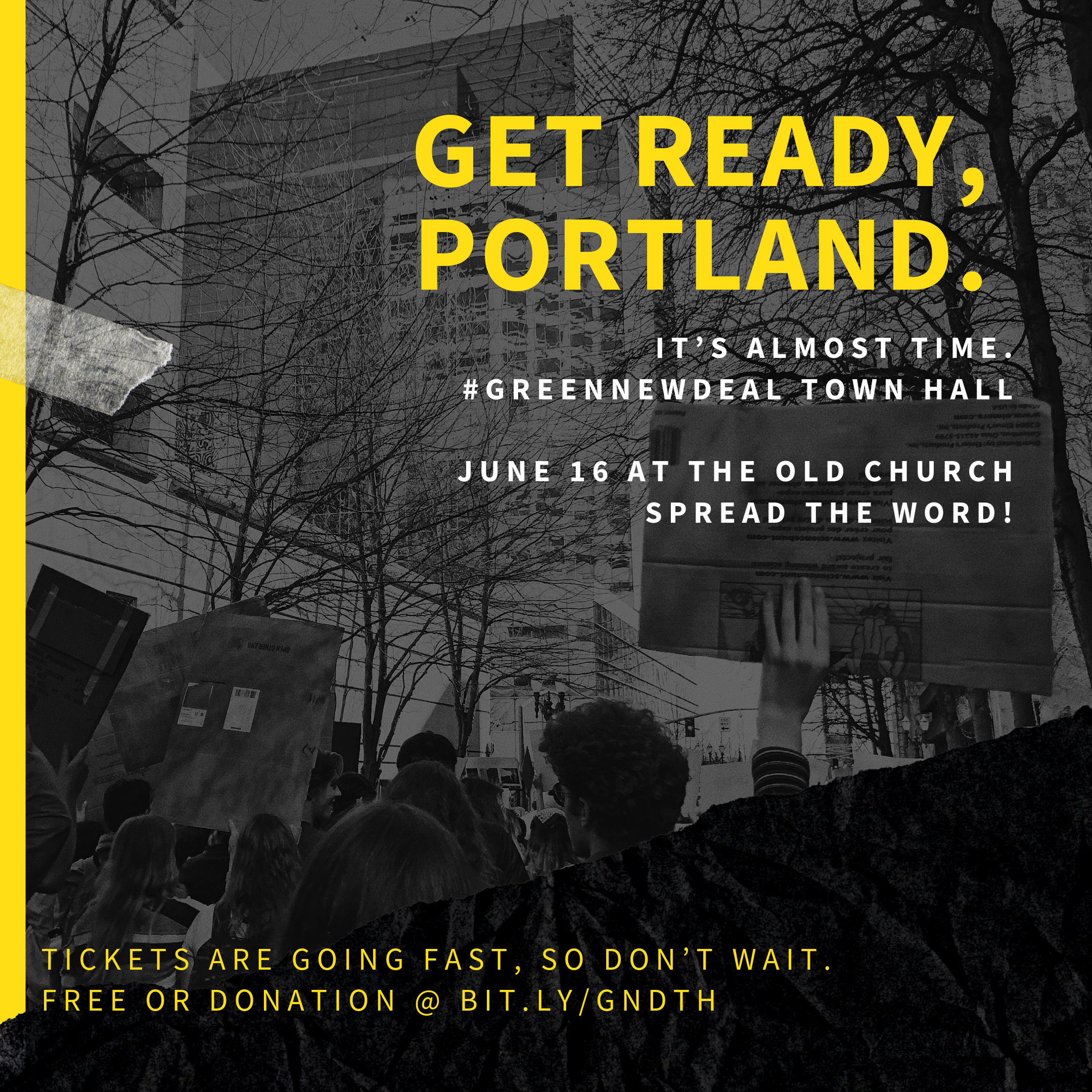 it's almost time. #greennewdeal town hall  june 16 at the old church spread the word!.png