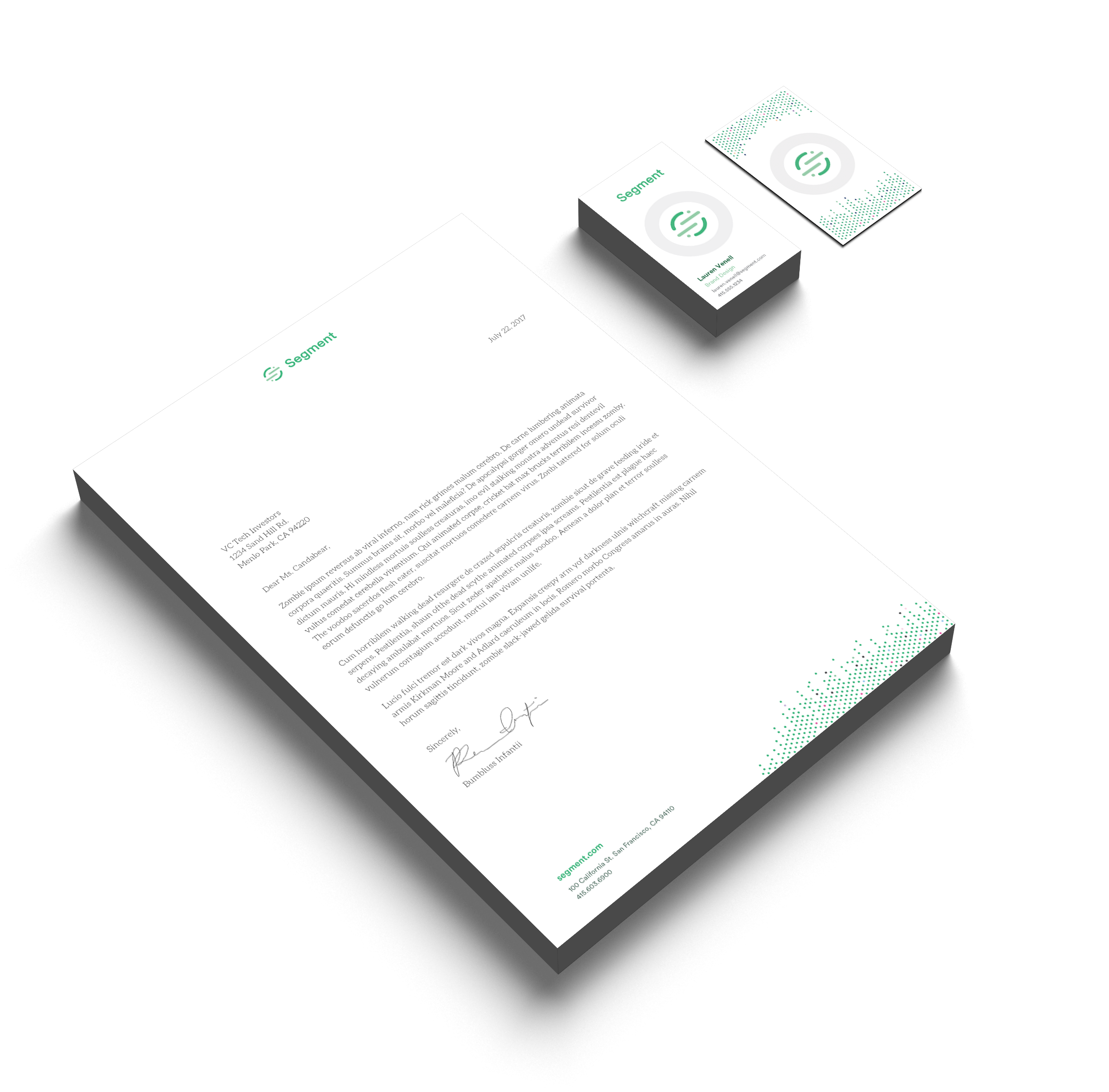 Print Collateral - Including business cards and letterhead.