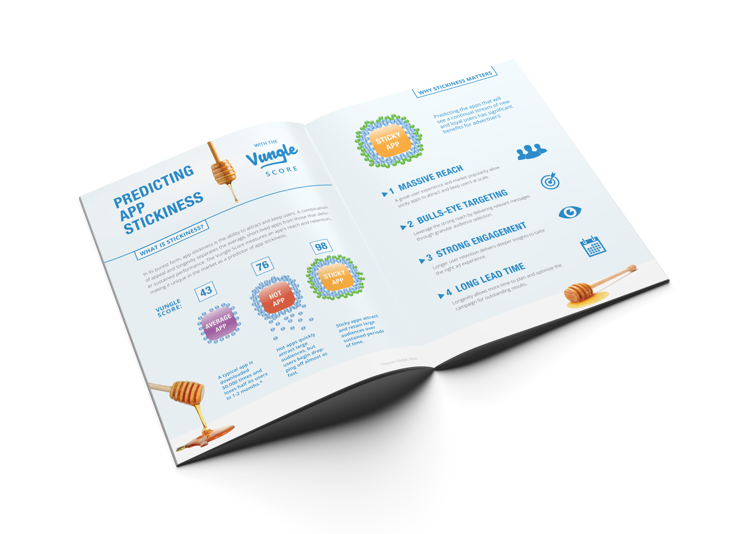 Predicting appstickiness - Booklet and infographic introducing the Vungle Score, a proprietary measure of predicting app retention