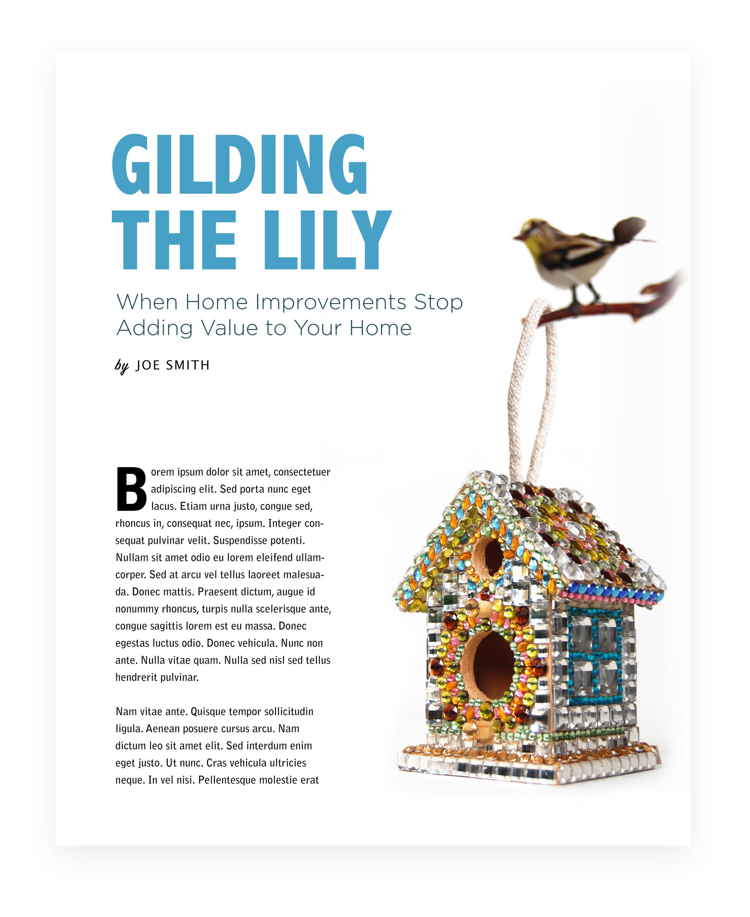 "Home Improvement - Wooden birdhouse ornament, rhinestones, foam tape, glue, manzanita branch, toy birdApprox.4 1/2"" x 3 1/4"" x 2 3/4"""