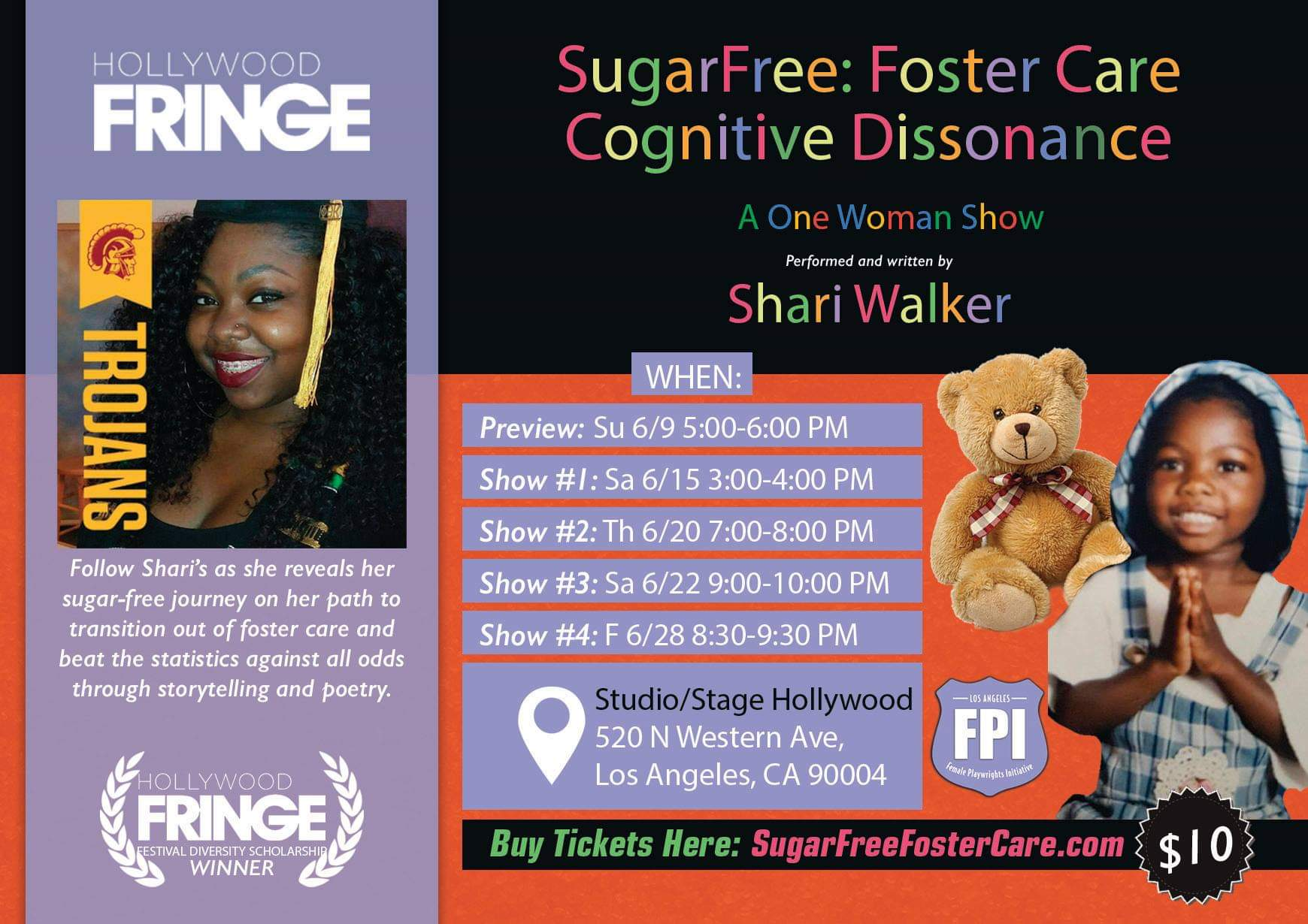 Sugarfree:Foster CareCognitive Dissonance - Get to Know the Play and One-Woman Playwright, Producer and Actress Questions & Answers