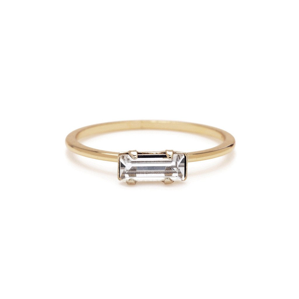 Tiny Baguette Ring  $70 USD