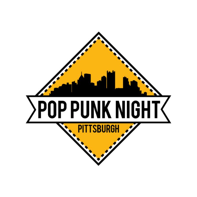 2 Color Logo Design For Pop Punk Night