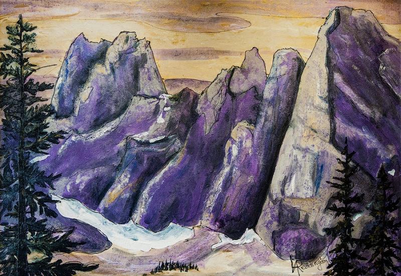 Purple Majesty by Ginger Reddington | $400