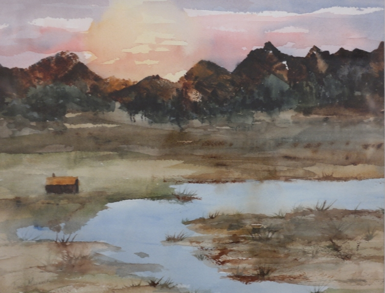 Home on the Range by Terri Meenach (Watercolor) |