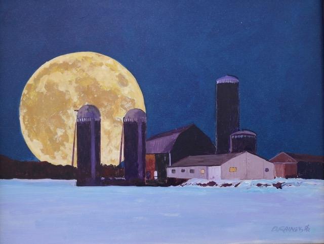 Moonscape by Dean Rainey (Acrylic) | $280