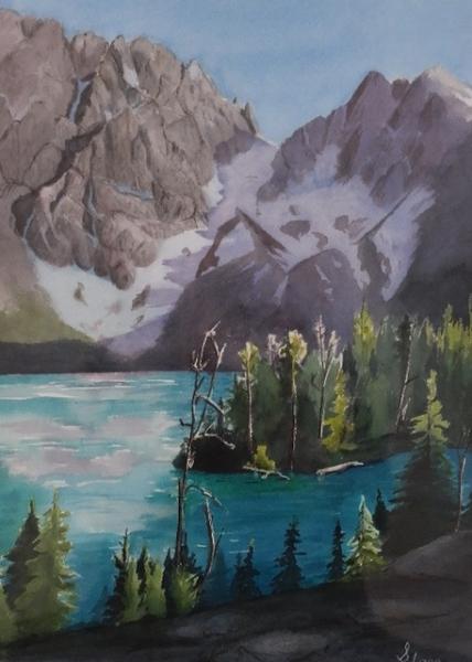 Colchuck Lake by Suzi Lane (Watercolor) | $300