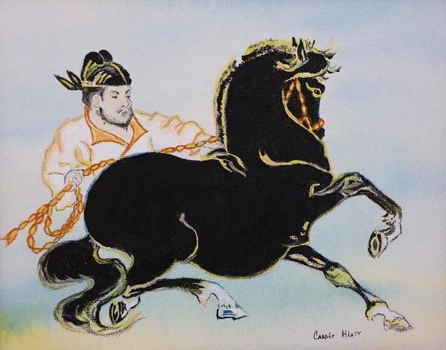 The Horse by Carole Hiatt (Acrylic) | $125