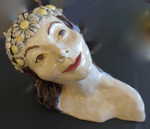 Clay sculpture by Pacia Dixon