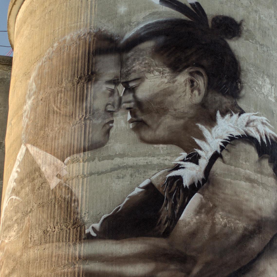 Chief Te Huruhuru & Michael Studholme -
