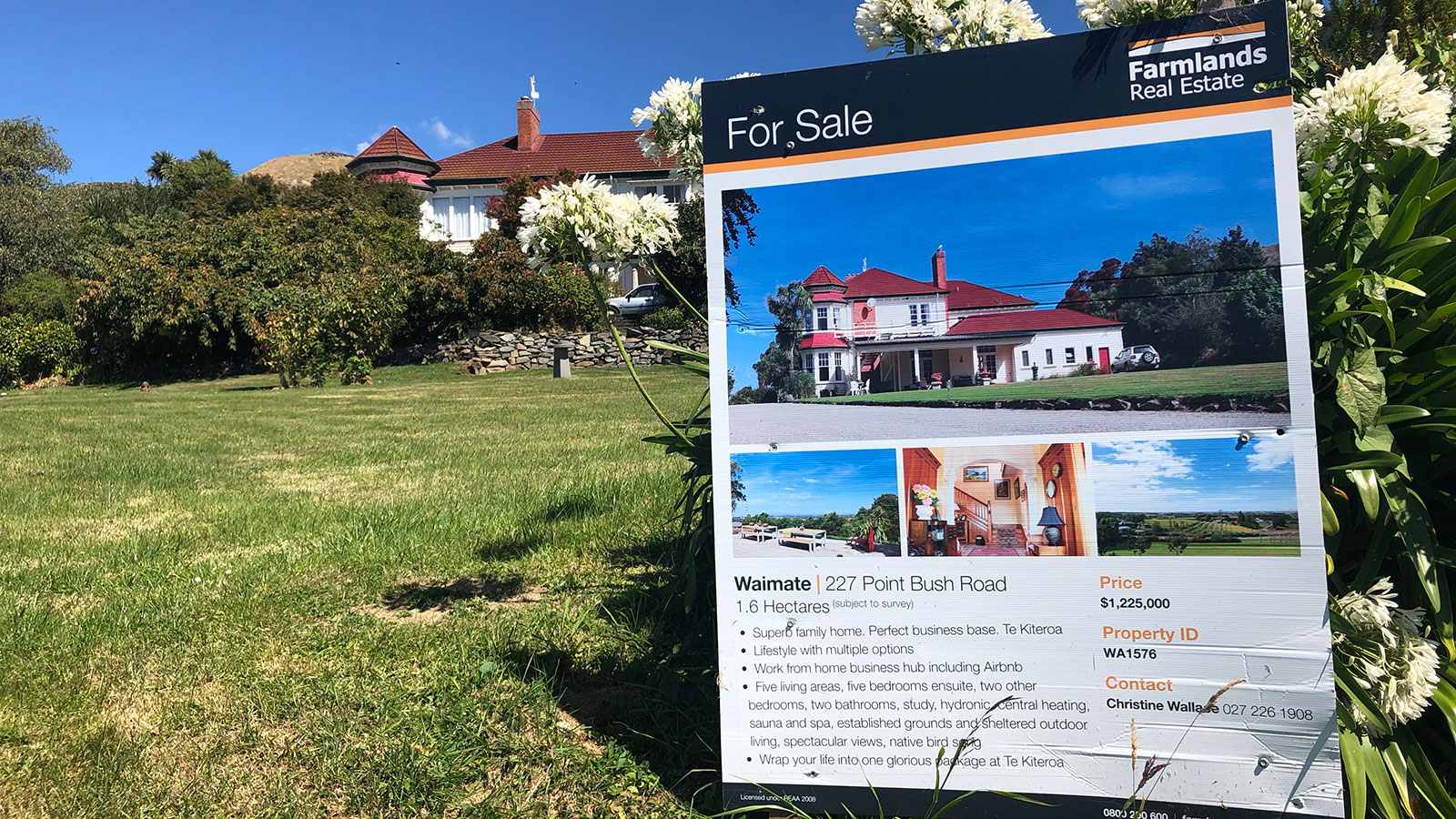 Beautiful historic home Te Kiteroa is on the market.