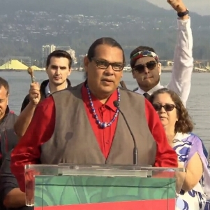 Reuben George, Manager of The Sacred Trust, an organization of the Tsleil-Waututh Nation