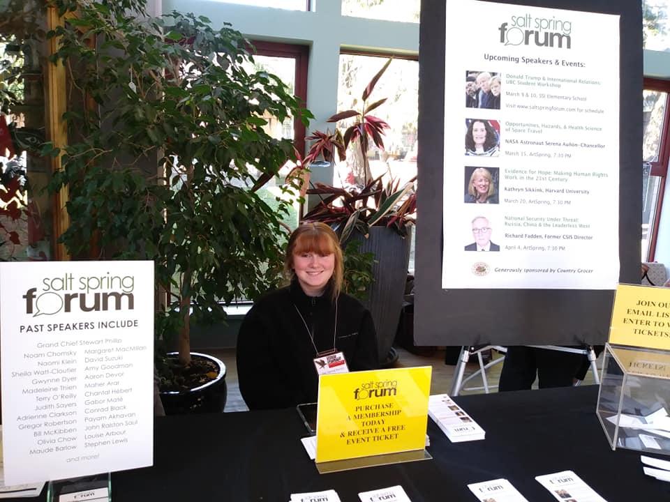 Forum youth volunteer Tyger Stafford.