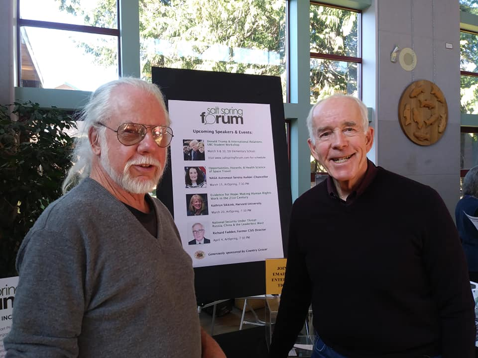 Forum board members Brian Hayward and Tony Kennedy.