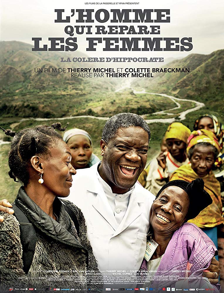 The Man Who Mends Women    Winner of the Sakharov Prize 2014, Doctor Mukwege is internationally known as the man who mends thousands of women who have been raped during the 20 years of conflicts in the East of the Democratic Republic of the Congo, one of the poorest countries on the planet, despite its extremely rich sub-soil. His endless struggle to put an end to these atrocities and denounce the impunity enjoyed by the perpetrators is not welcome. At the end of 2012, the Doctor was the target of another attempt on his life, which he miraculously survived. Threatened with death, this doctor with an exceptional destiny now lives cloistered in his hospital in Bukavu under the protection of the United Nation peacekeepers. But he is no longer alone in his struggle. The women to whom he has restored physical integrity and dignity, stand beside him, true activists for peace, hungry for justice.