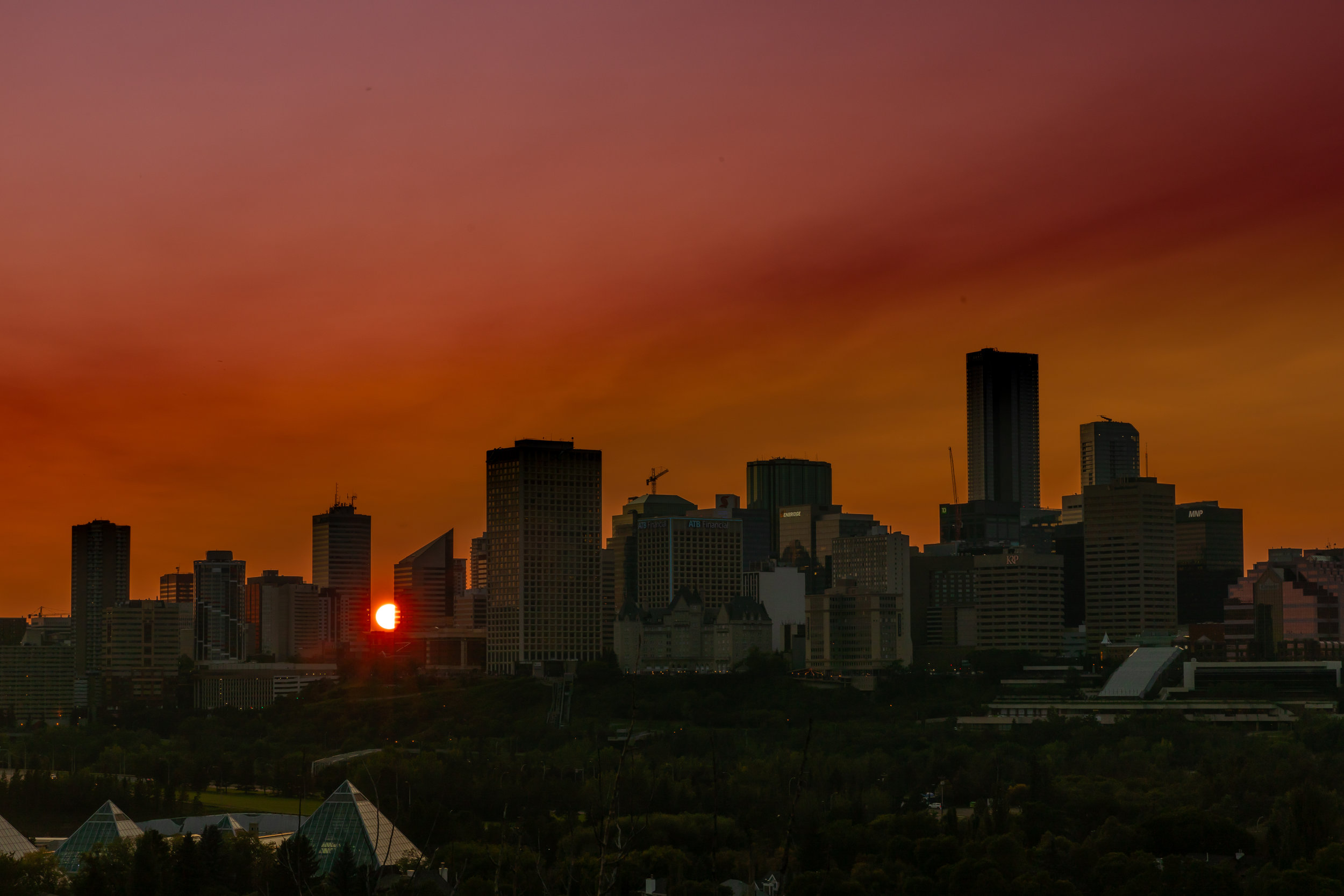 Sunset in Edmonton Alberta Canada