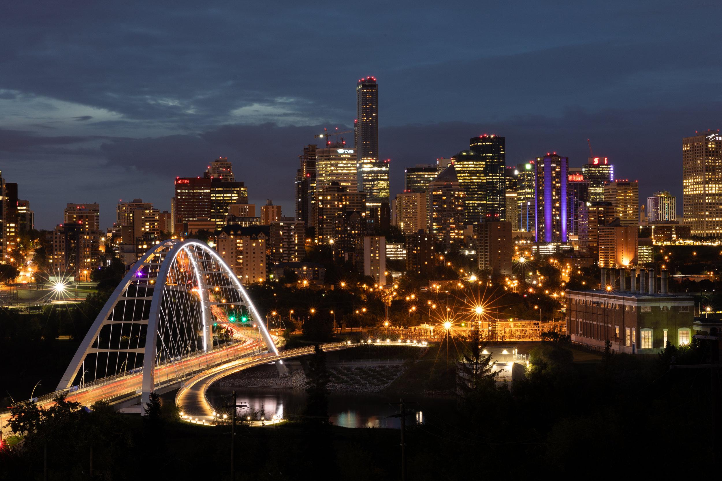 Sunset in Edmonton, Alberta, Canada