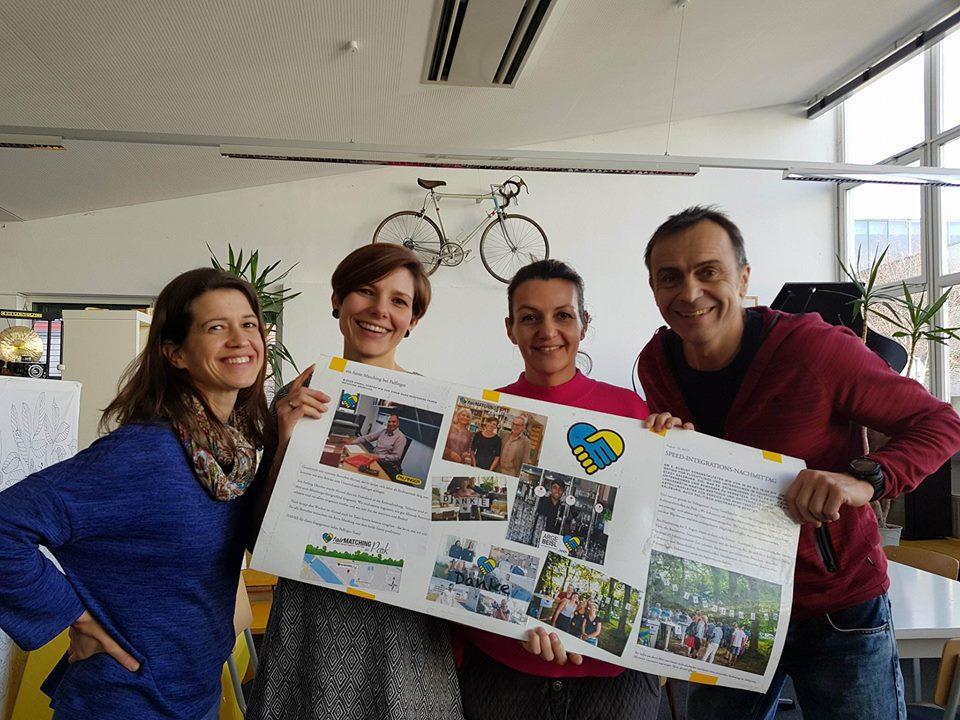fairMATCHING Team 2.0: Silke Stadlmann, Katrin Gerschpacher, Astrid Stockinger und Wolfgang Tonninger (v.l.n.r)