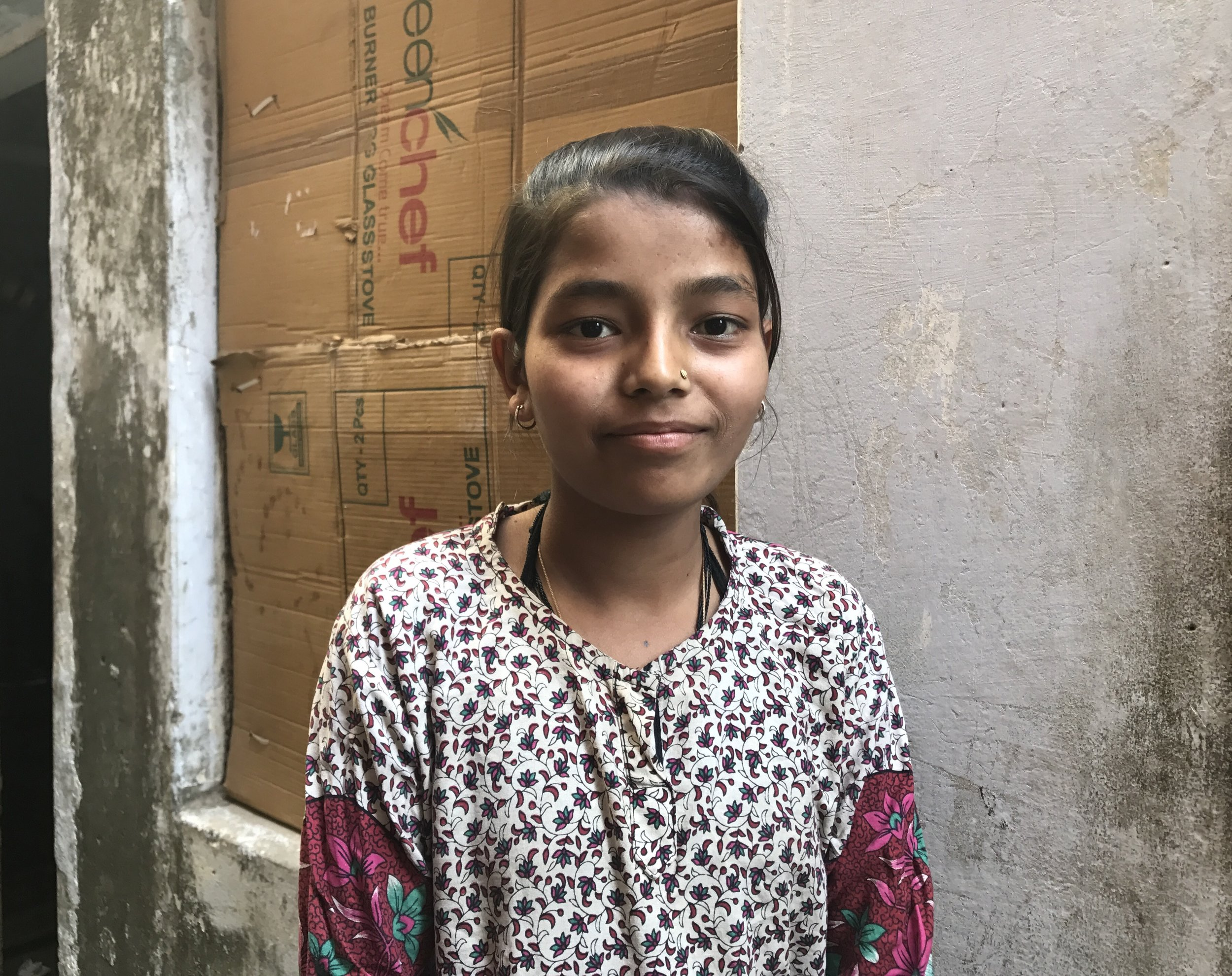 """""""I was 10 years old when I started going to school. I want to become something good. I want to make my parents proud."""""""