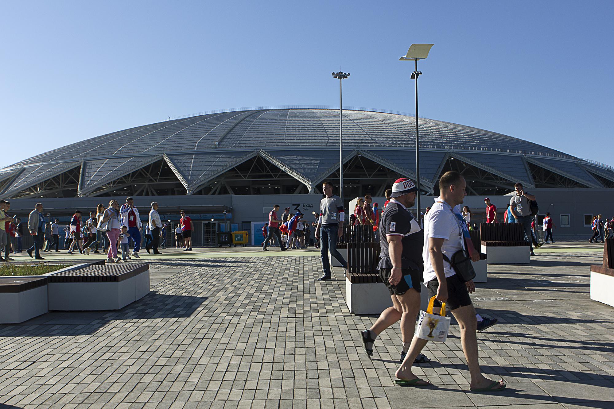 Kosmos Arena Stadium in Samara for  Huffington Post UK