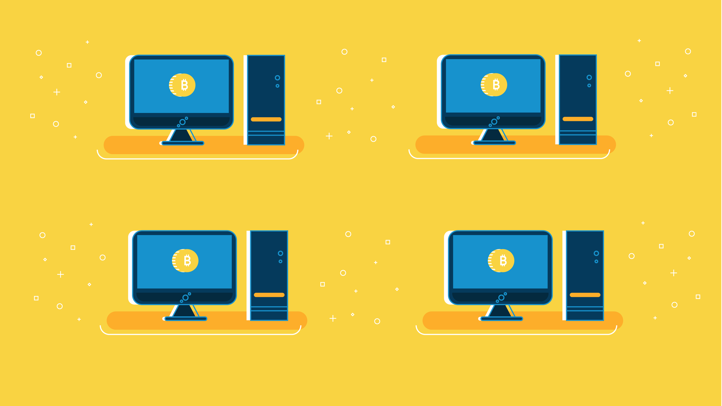 Computers using bitcoin