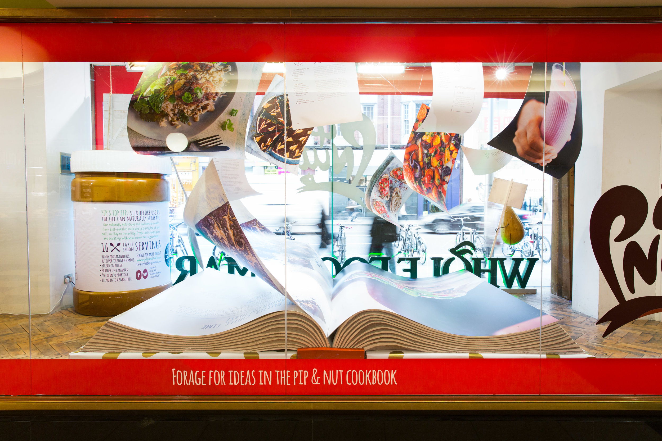 Pip&Nut Whole Foods Windows