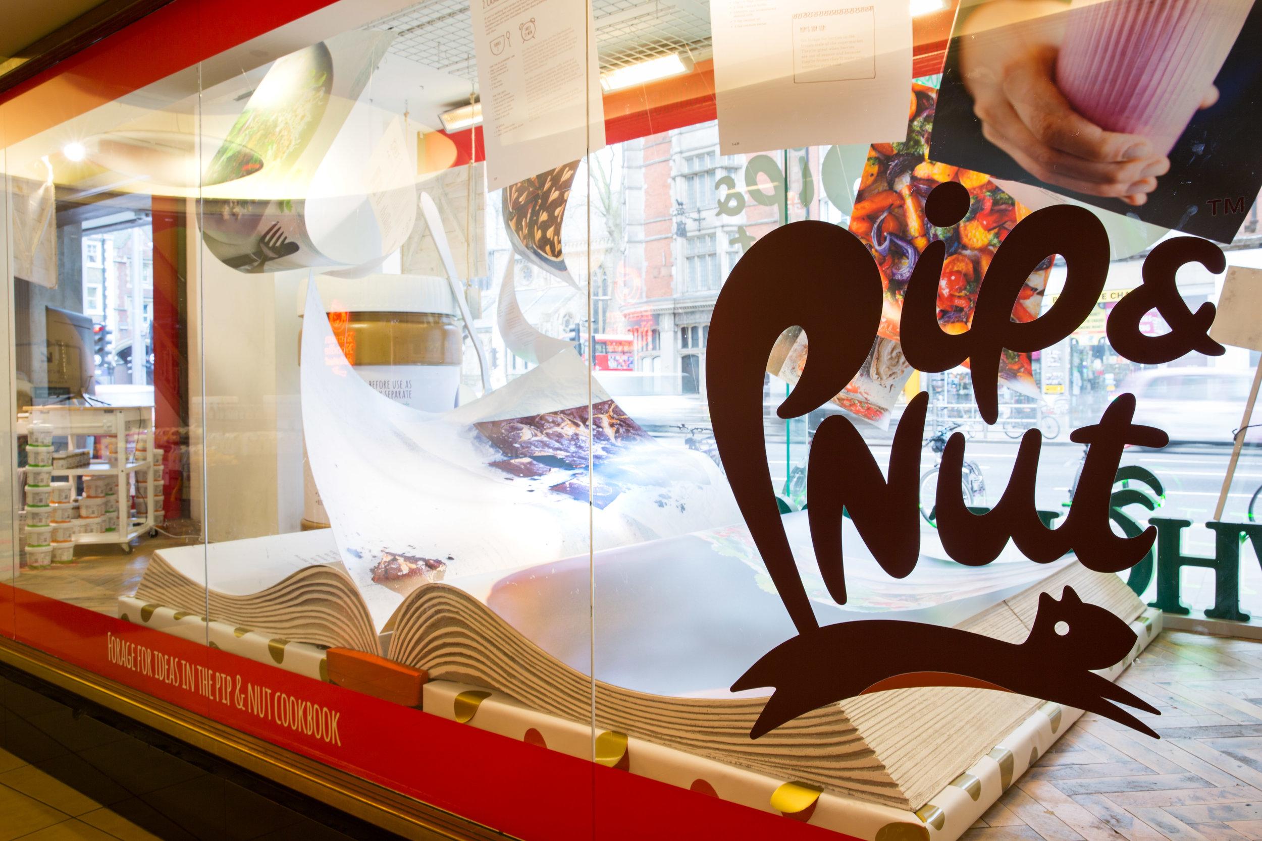 Pip&Nut Whole Foods Window Display