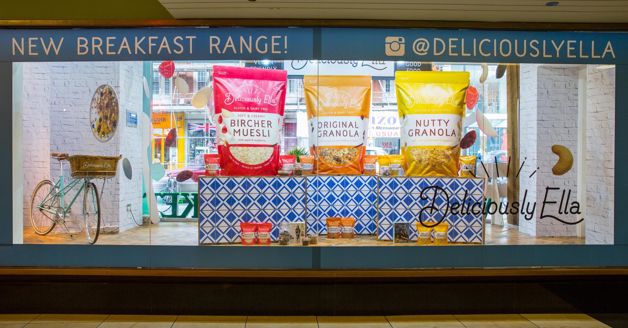 Deliciously Ella Whole Foods Window display