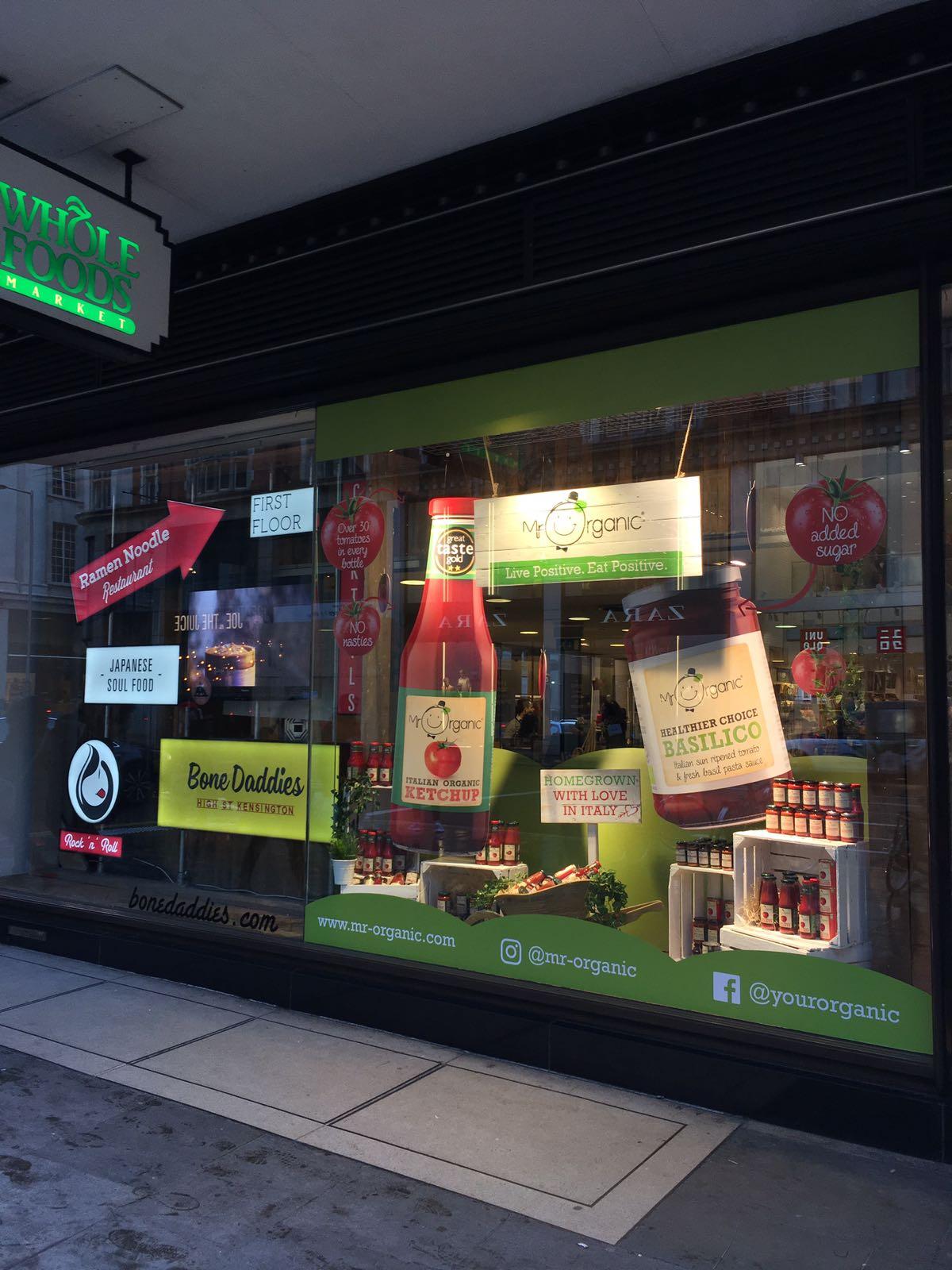 Mr Organic Window Display Whole Foods