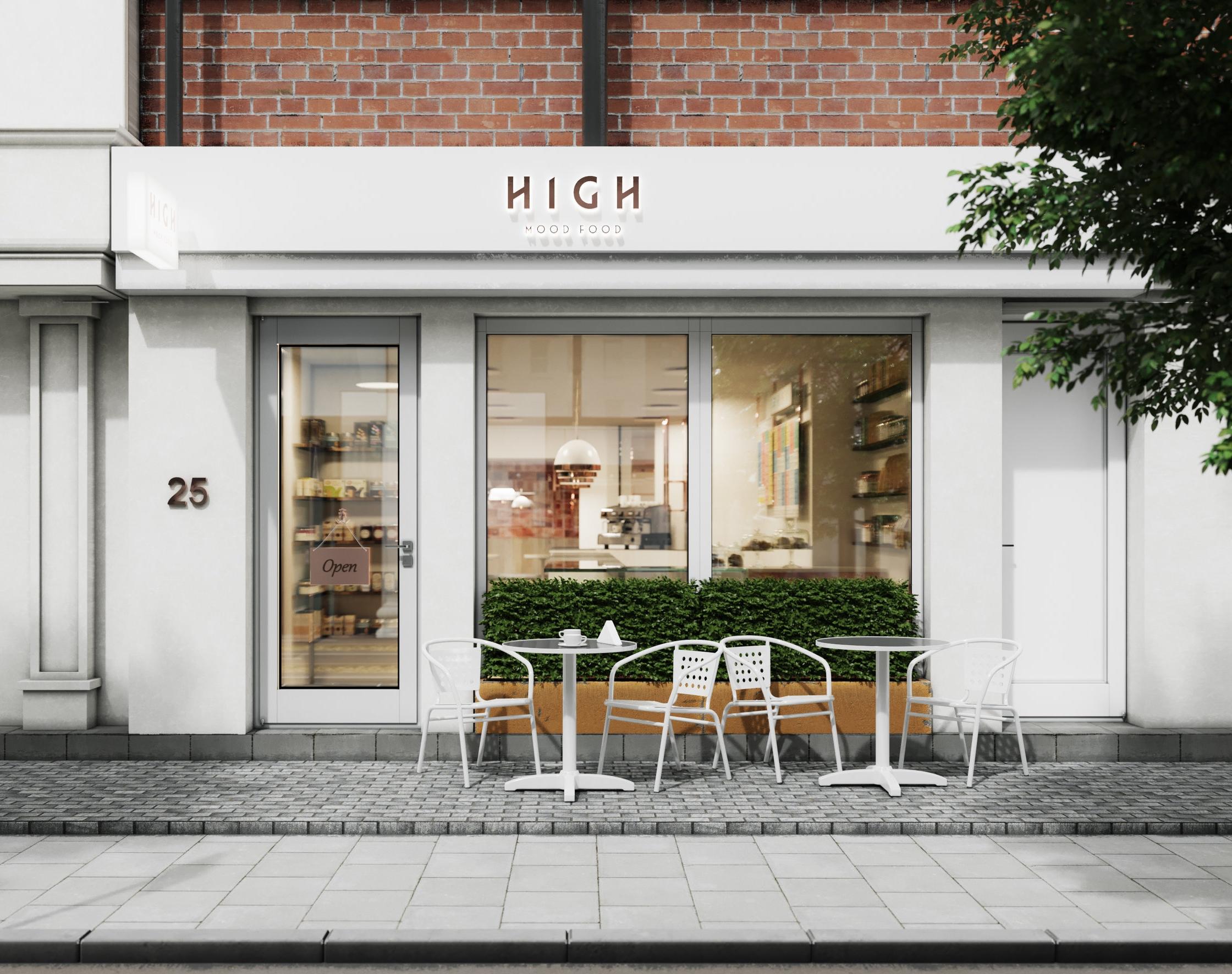 High Mood Food_Exterior Render