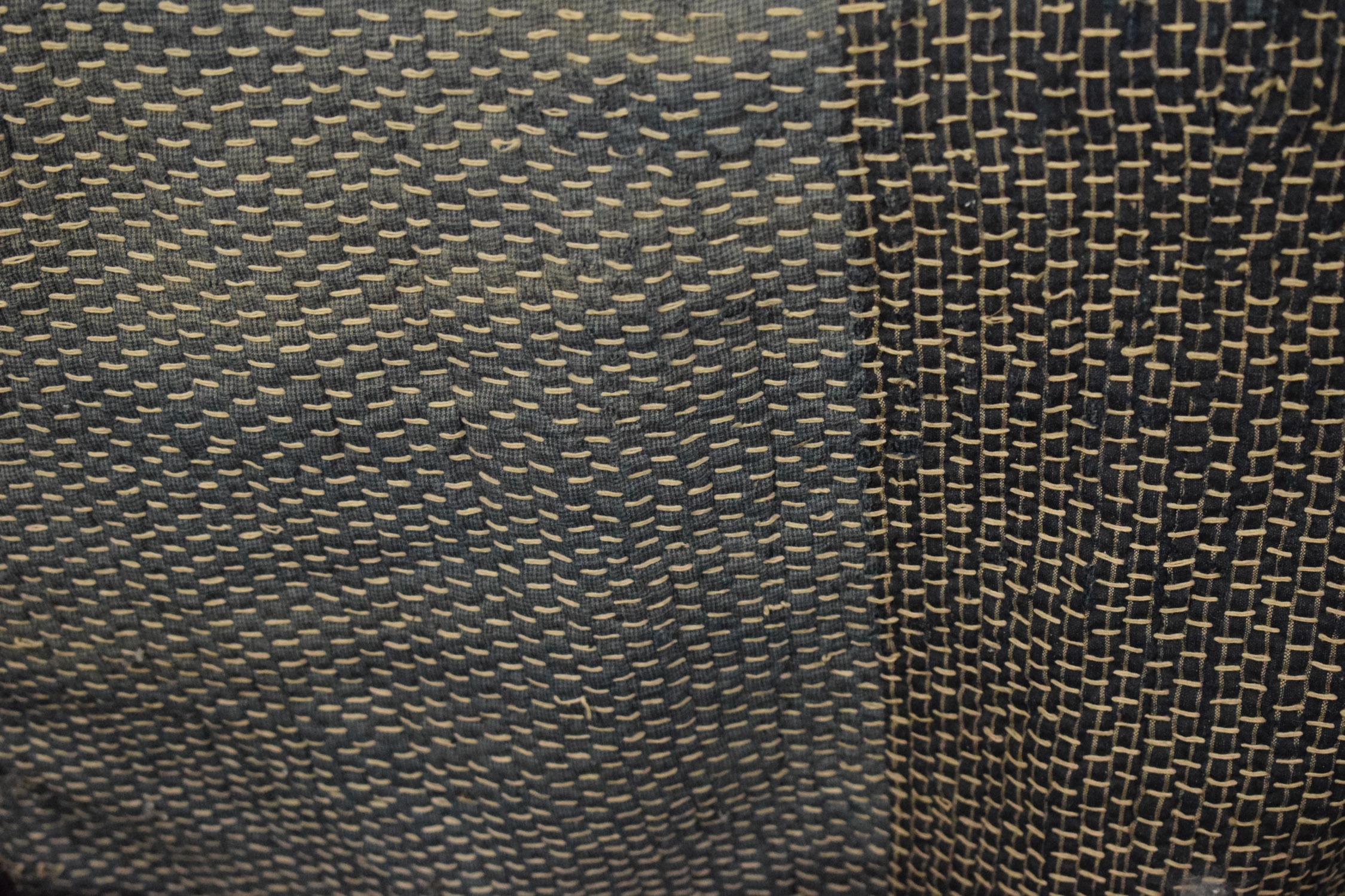 Sashiko/boro stitch on indigo