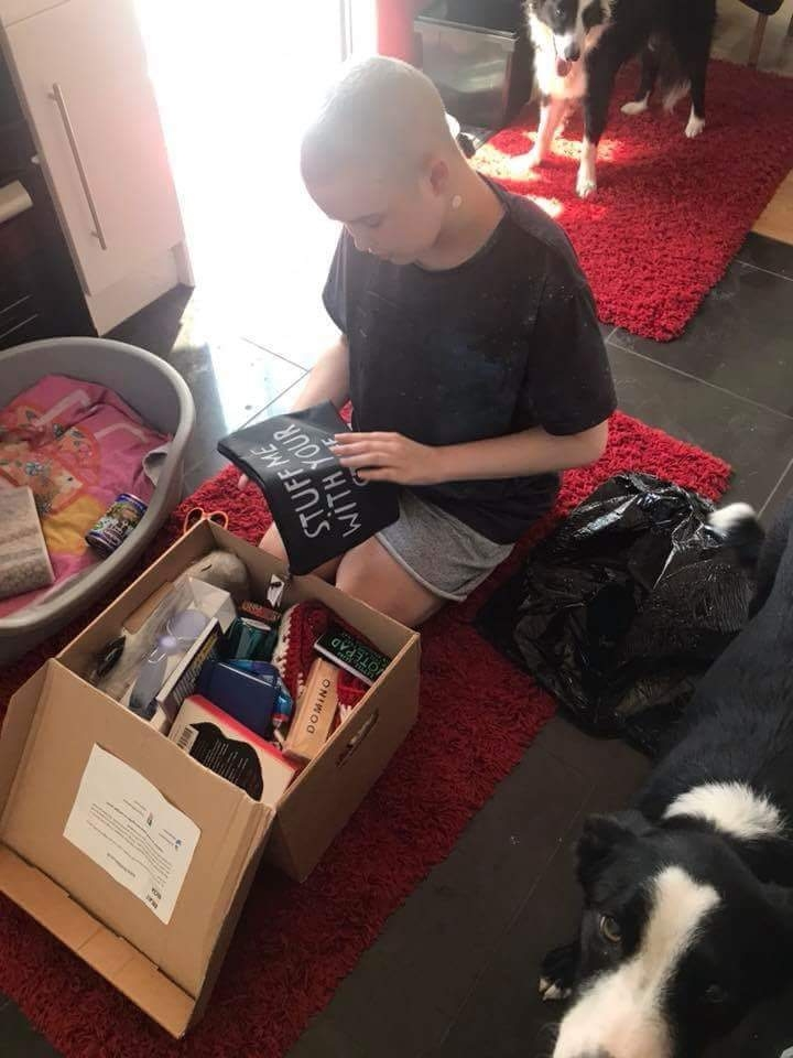 """My son Michael received his beat it box today. It put a smile on a grumpy boy's face. He said it's a brilliant idea and has everything he can use in it. The blankets are an especially nice touch. Thank you so much for cheering him up, it's been really hard lately as Michael is still on strict isolation rules atm due to post stem cell transplant and no immunity. Not great as all his mates now enjoying the summer holidays. "" Michaels Mum, July 2018"
