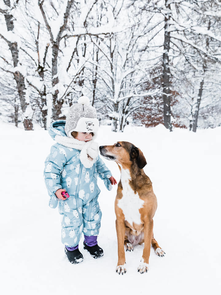"""Maud Schoenmaekers  """"Enjoying our last snow day.."""""""